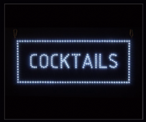 COCKTAILS LED SIGN 3